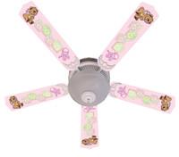 """New BABY NURSERY TOYS BLOCKS PINK Ceiling Fan 52"""""""