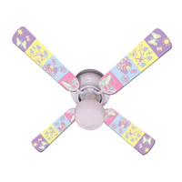 """New BABY NURSERY HAPPY WINGS Ceiling Fan 42"""""""