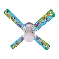 """New JUNGLE PARTY ANIMALS Ceiling Fan 42"""""""