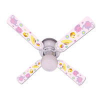 """New GIRLS PINK TEA TIME PARTY Ceiling Fan 42"""""""