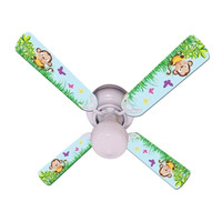 """New BABY MONKEY MISCHIEF with BANANA Ceiling Fan 42"""""""