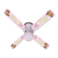 """New BABY NURSERY TOYS BLOCKS PINK Ceiling Fan 42"""""""