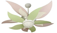 "CRAFTMADE BLOOM 52"" Ceiling Fan With PINK & GREEN BLADES"