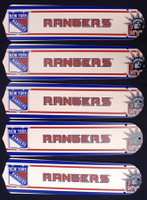 """New NHL NEW YORK RANGERS 52"""" Ceiling Fan BLADES ONLY"""