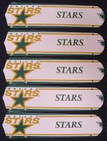 "New NHL DALLAS STARS 52"" Ceiling Fan BLADES ONLY"