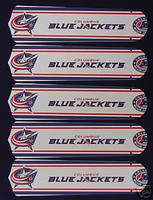 """New NHL COLUM. BLUE JACKETS 52"""" Ceiling Fan BLADES ONLY"""