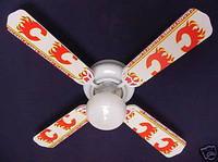 """New NHL CALGARY FLAMES HOCKEY Ceiling Fan 42"""""""