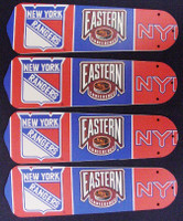 """New NHL NEW YORK RANGERS 42"""" Ceiling Fan BLADES ONLY"""