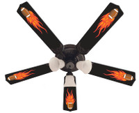 New HOT FLAMES FOOTBALL SPORTS Ceiling Fan 52""