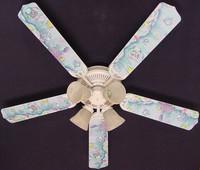 """New KIDSLINE KIDS LINE RAINBOW FISH Ceiling Fan 52"""""""