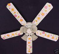 """New KIDSLINE KIDS LINE LULLABY BIRDS Ceiling Fan 52"""""""