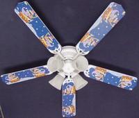 """New KIDSLINE KIDS LINE STARRY NIGHT Ceiling Fan 52"""""""