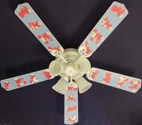 """New SESAME STREET BABY NURSERY ELMO Ceiling Fan 52"""""""