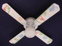 "New KIDSLINE KIDS LINE PARADISO ANIMALS Ceiling Fan 42"""