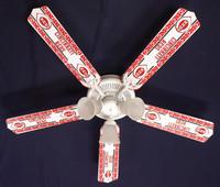 "New MLB CINCINNATI REDS BASEBALL Ceiling Fan 52"""