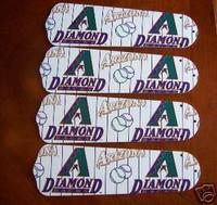 """New MLB ARIZONA DIAMONDBACKS BASEBALL Ceiling Fan 52"""""""