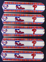 "New PHILADELPHIA PHILLIES 52"" Ceiling Fan BLADES ONLY"