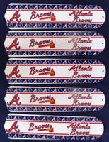 "New MLB ATLANTA BRAVES 52"" Ceiling Fan BLADES ONLY"