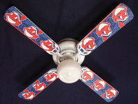 New MLB CLEVELAND INDIANS BASEBALL Ceiling Fan 42""