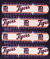 "New MLB DETROIT TIGERS 42"" Ceiling Fan BLADES ONLY"