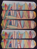 "New HAWAIIAN SURFBOARDS 52"" Ceiling Fan BLADES ONLY"