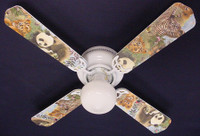 New BABY SAFARI ELEPHANT LION ZEBRA Ceiling Fan 42""