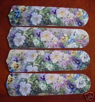 """New PANSY, PENTUNIA FLOWERS 42"""" Ceiling Fan BLADES ONLY"""