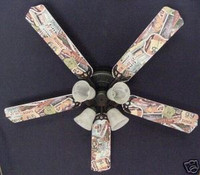 """New NOSTALGIC ROUTE 66 HIGHWAY Ceiling Fan 52"""""""