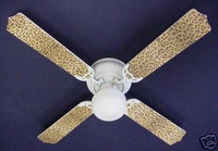 "Leopard/Cheetah Skin Print 42"" Ceiling Fan"