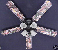 "New HOT ROD CARS BURGER DINER Ceiling Fan 52"""