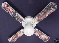 New HOT ROD CARS BURGER DINER Ceiling Fan 42""
