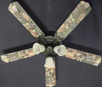 """New FLY FISHING TROUT TACKLE Ceiling Fan 52"""""""