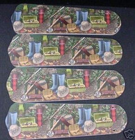 """New FLY FISHING TROUT 42"""" Ceiling Fan BLADES ONLY"""