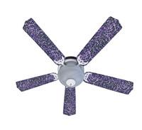 """New EXOTIC PURPLE LEOPARD SKIN PRINT Ceiling Fan 52"""""""