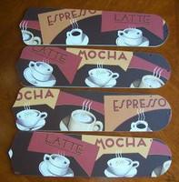 """New COFFEE LATTE ESPRESSO MOCHA Ceiling Fan 52"""""""