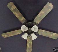 "New CAMOFLAUGE CAMO ARMY HUNTERS Ceiling Fan 52"""