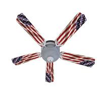 "New AMERICAN FLAG PATRIOTIC Ceiling Fan 52"""