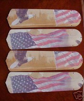 """New AMERICAN FLAG EAGLE 42"""" Ceiling Fan BLADES ONLY"""