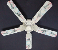 """New AIR FORCE FIGHTER JETS EAGLE FLAG Ceiling Fan 52"""""""