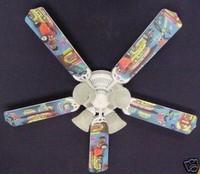 """New 50's JUKEBOX HOT ROD BURGER DINER Ceiling Fan 52"""""""