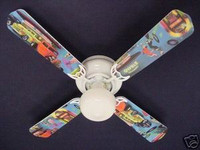 New 50's JUKEBOX HOT ROD BURGER DINER Ceiling Fan 42""