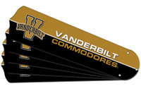 "New NCAA VANDERBILT COMMODORES 42"" Ceiling Fan Blade Set"