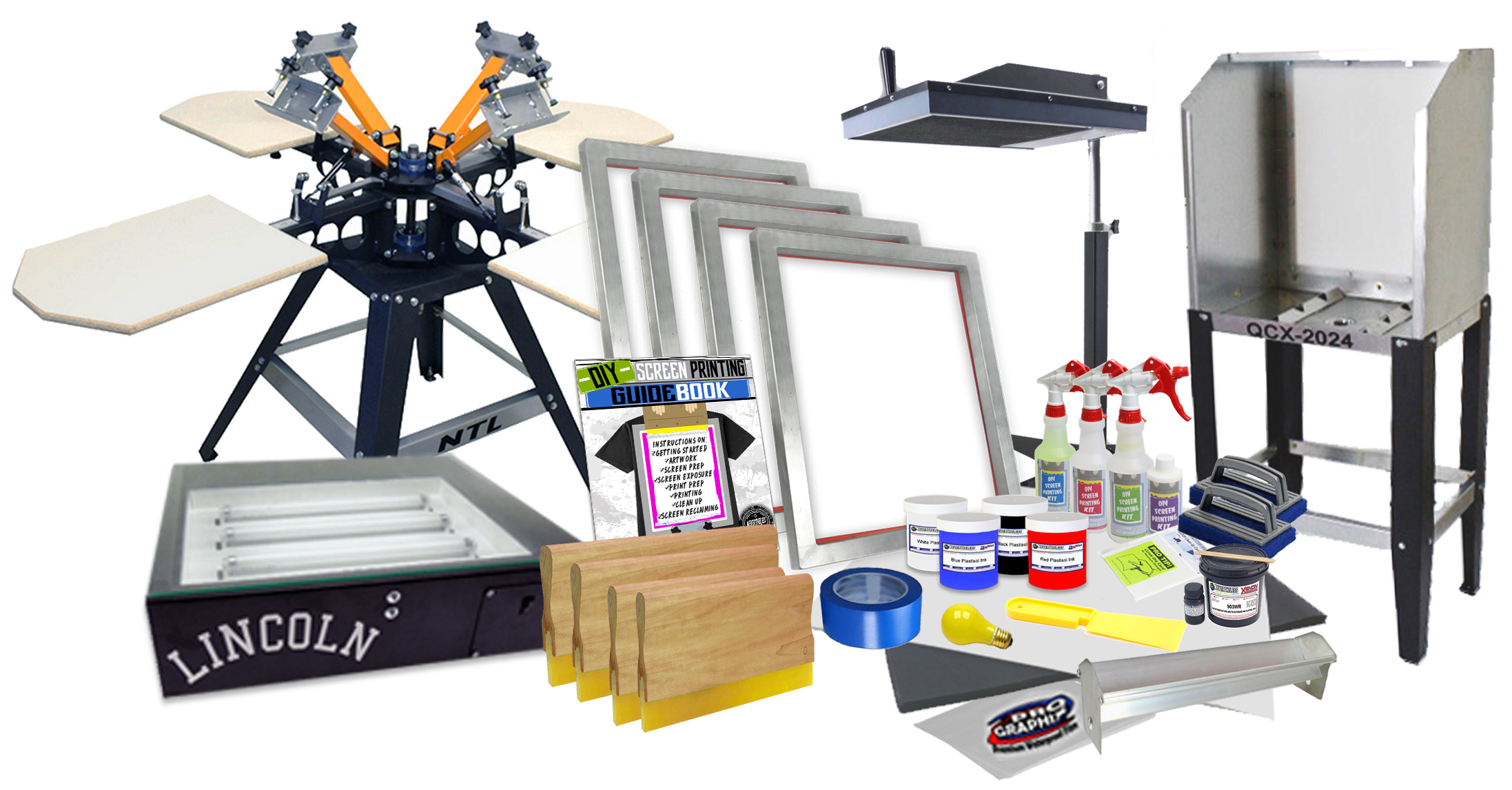 Screen Printing equipment-kits-packages