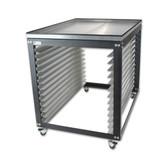 NTL Jumbo Screen Cart / Rack - Metal Top Option