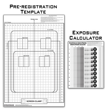 Pre-Registration Template Transparency Poster for Screen Printing Darkroom