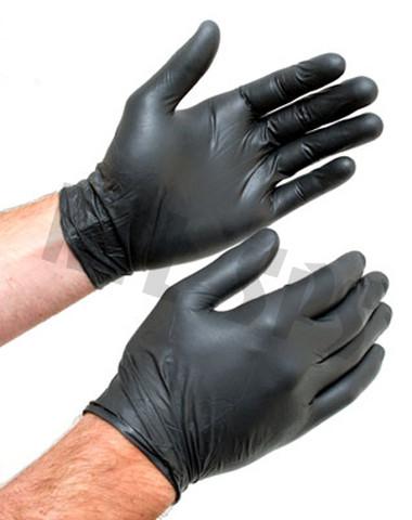 5 Mil Black Nitrile Gloves - 100 pack box
