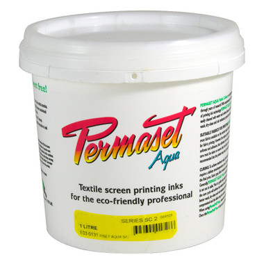 Permaset Standard Aqua Ink - First Down White - 1L (1.06QT)