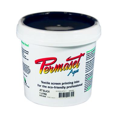 Permaset Aqua Standard Waterbased Ink - Jet Black