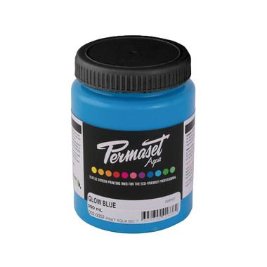 Permaset Aqua Supercover Waterbased Ink - Glow Blue