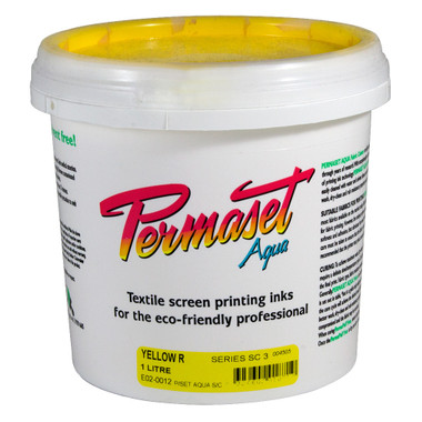 Permaset Aqua Supercover Waterbased Ink - Yellow R